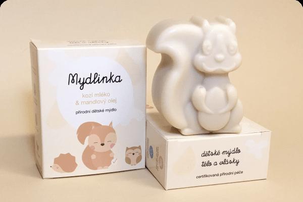 Mýdlo s kozím mlékem - veverka