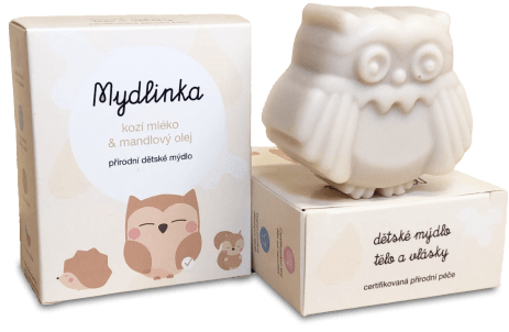 Kozí dětské mýdlo od Mydlinky