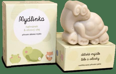 Heřmánkové dětské mýdlo od Mydlinky