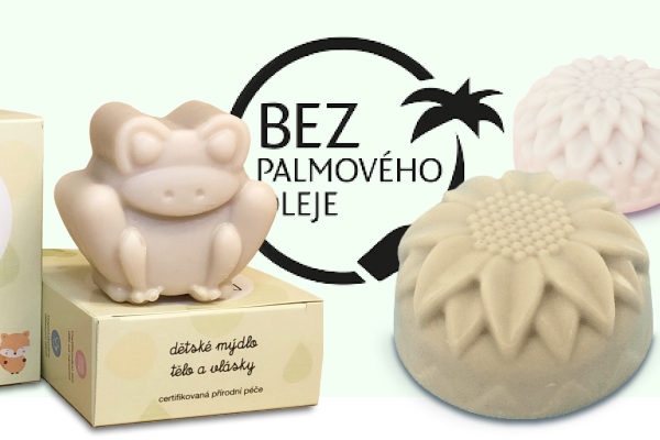 Mýdla a šampony bez palmového oleje